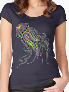 Electric Jellyfish Women's Fitted Scoop T-Shirt