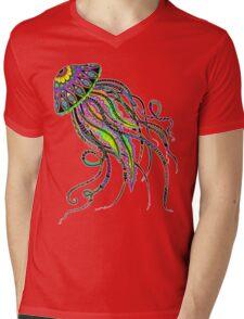 Electric Jellyfish Mens V-Neck T-Shirt