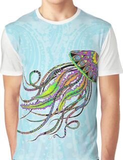Electric Jellyfish Graphic T-Shirt