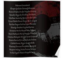 Generation 6 pokemon Poster
