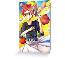 soma yukihira print - food wars/shokugeki no soma Greeting Card