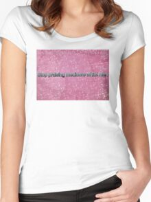 Stop Praising Mediocre White Men Women's Fitted Scoop T-Shirt
