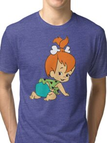 Pebbles Flintstones Tri-blend T-Shirt