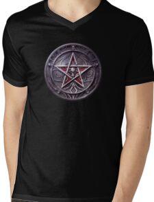 The Blood Pentagram Mens V-Neck T-Shirt