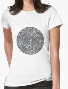 Zendoodled Henna Flowers Womens Fitted T-Shirt