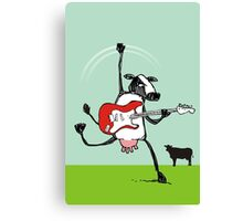 Who the moo are you?! Canvas Print