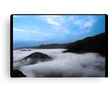 Above the Cloud, Under the Sky. Canvas Print