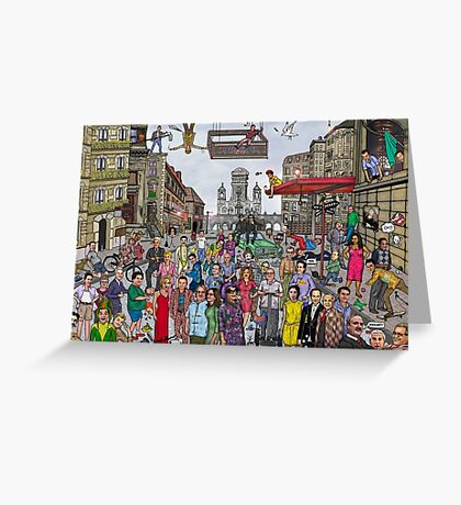 Funny TV and movie stars Greeting Card
