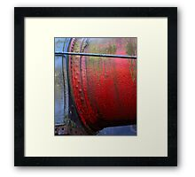 Heavy Metal Red and Blue Framed Print