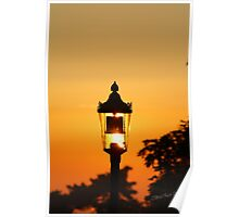 Streetlight Sunset Poster