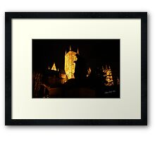 Lincoln Cathedral Tennyson Silhouette Framed Print