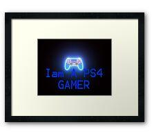 I'M a PS4 GAMER Framed Print