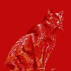 Red cat  by maria paterson