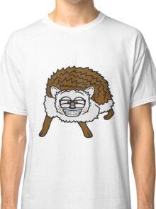 nerd musik klavier keyboard tanzen band konzert disko club tasten party haariger kleiner süßer niedlicher igel comic cartoon  Classic T-Shirt