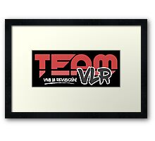 TeamVLR Logo Transparent Framed Print