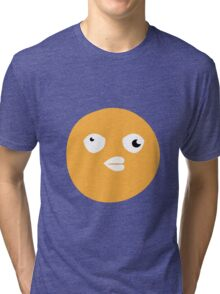 Crazy yellow funny bitch babble head duck Tri-blend T-Shirt