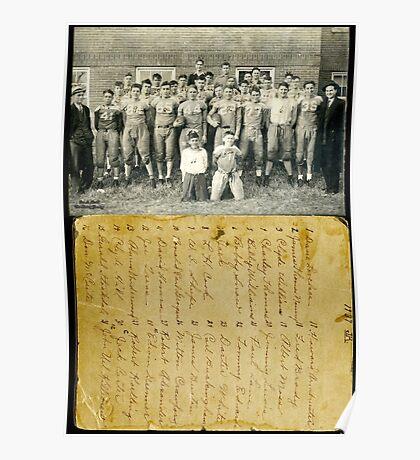 1937 Fulton Football Team, Fulton County, Kentucky Poster