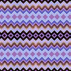 Purple Blue Pink Aztec Chevron by webgrrl
