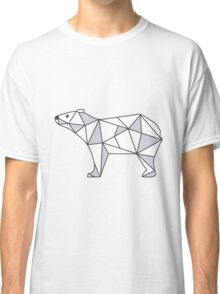 Pattern with small Bear. Black and white freehand drawing Classic T-Shirt