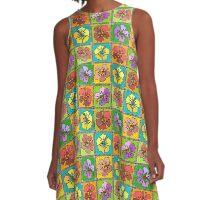 Hibiscus Fruit Salad A-Line Dress