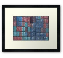 Container Tetris Framed Print