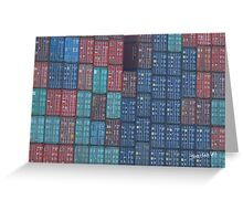 Container Tetris Greeting Card