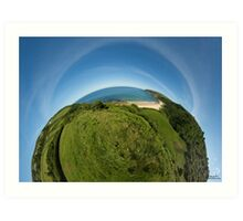 Kinnagoe Bay (as half a planet :-) Art Print