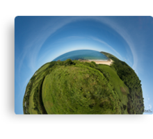 Kinnagoe Bay (as half a planet :-) Canvas Print