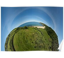 Kinnagoe Bay (as half a planet :-) Poster