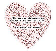 Revolutionary Love Che Guevara Heart Photographic Print
