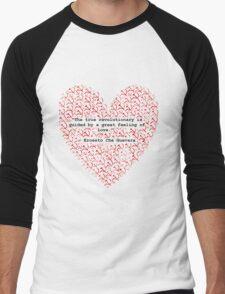Revolutionary Love Che Guevara Heart Men's Baseball ¾ T-Shirt