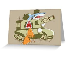 Tank Sharks Greeting Card