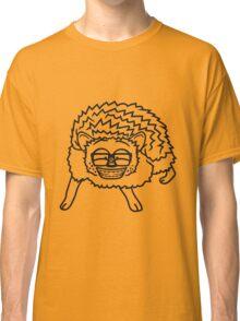 nerd geek hornbrille pickel freak spange schlau intelligent grinsen lustig comic cartoon süßer kleiner niedlicher igel  Classic T-Shirt