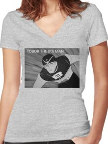 Tobor the 8th Man Women's Fitted V-Neck T-Shirt