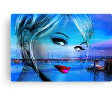 Blue Eyes Blue Canvas Print