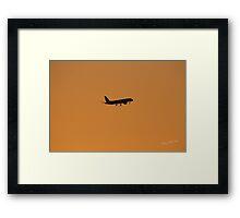 Plane Silhouette Framed Print