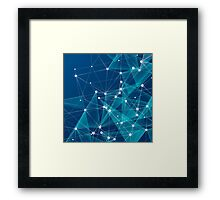Modern Blue Abstract Pattern Framed Print