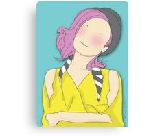 Girl In A Bowler Hat Canvas Print