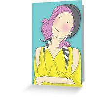 Girl In A Bowler Hat Greeting Card