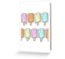 Colored Ice Greeting Card