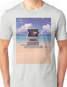 Vaporwave Macintosh - No Text Unisex T-Shirt