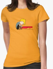 Piano Man Womens Fitted T-Shirt