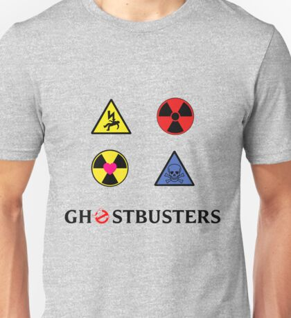 Proton Pack's 4 Stickers - Ghostbusters Unisex T-Shirt