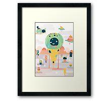 Melting Desert Framed Print
