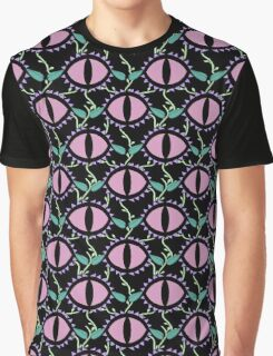 Cat Eye Flowers Pastel Goth Purple PInk Graphic T-Shirt