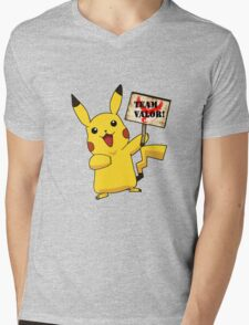 Pokémon GO - Team Valor with  Pikachu Mens V-Neck T-Shirt