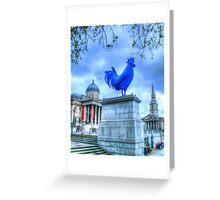 Trafalgar Blue Greeting Card