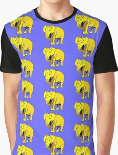 Yellow Elephant  Graphic T-Shirt