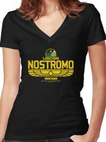 Nostromo Alien Women's Fitted V-Neck T-Shirt