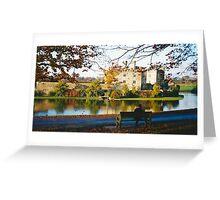Autumn at Leeds Castle, Kent UK Greeting Card